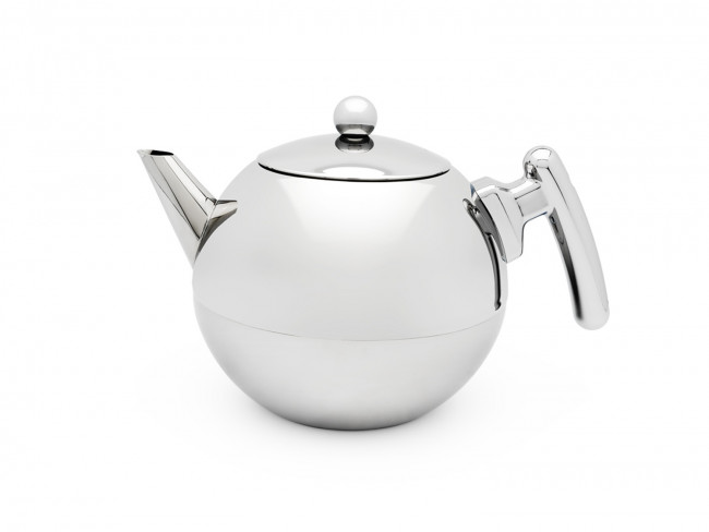 Teapot Bella Ronde 1.2L, flat bottom, chromium fittings