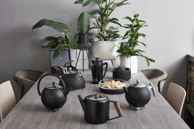 Teapot Duet Design Boston 1.1L matt black