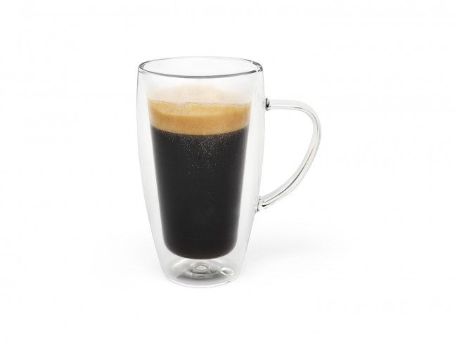 Double walled glass coffee/tea 320ml s/2