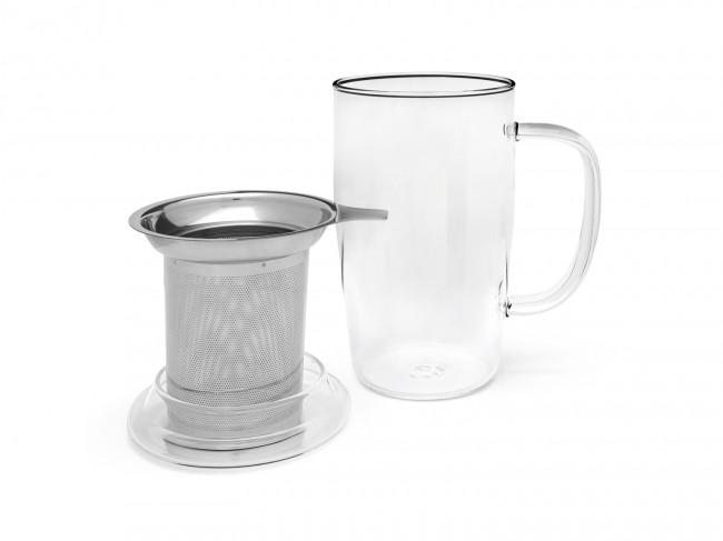 Tea glass Veneto 530 ml + filter s/s + lid