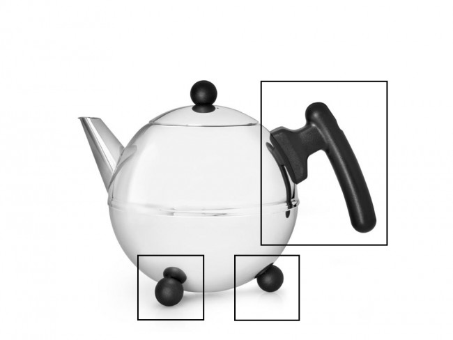 Set: handle and knobs for teapot Duet® Bella Ronde 1303Z