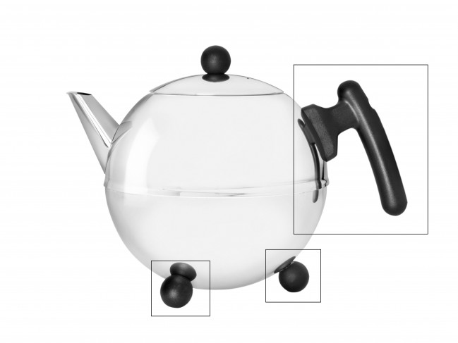 Set: handle and knobs for teapot Duet® Bella Ronde 1304Z