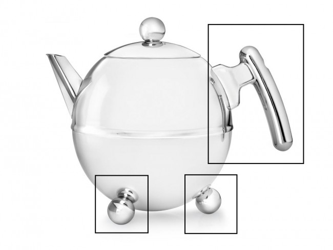 Set: handle and knobs for teapot Duet® Bella Ronde 1305CH