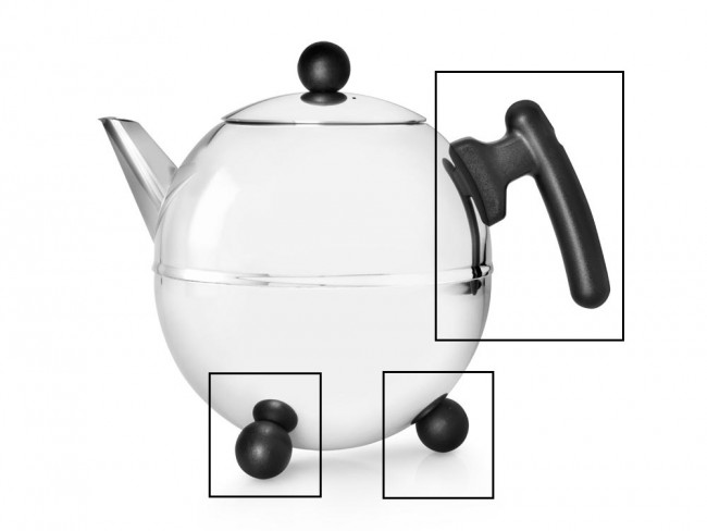 Set: handle and knobs for teapot Duet® Bella Ronde 1305Z