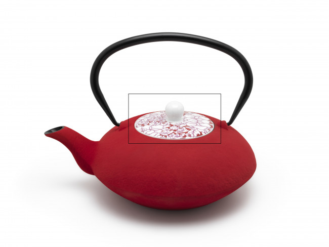 Lid for teapot Yantai 153000 red
