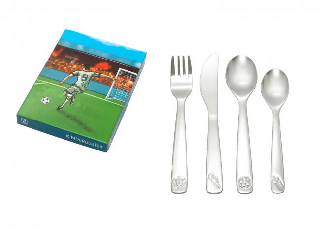 Children's cutlery 4-pcs Football s/s