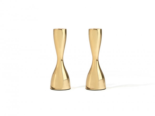 Candle stick Sophia 175mm s/2 gold-finish