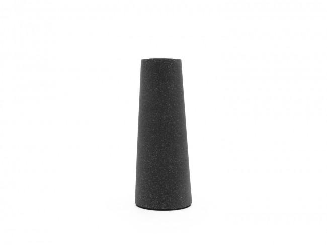 Oblique candle holder s/2 sandstone resin