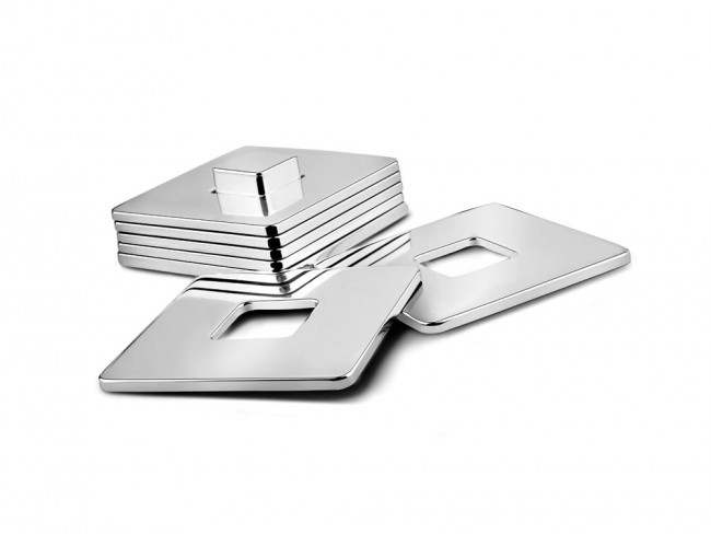 Coaster Square s/6 nickel colour