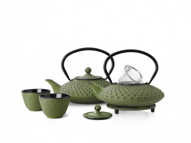 Teapot Xilin 0.8L cast iron green