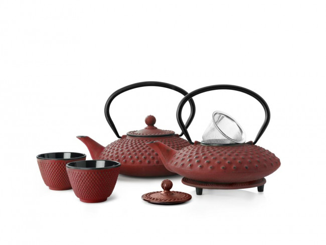 Teapot Xilin 0.8L cast iron red