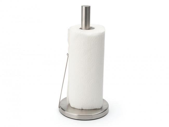 Kitchen roll holder with roll brake