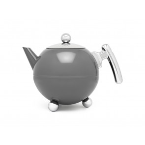 Teapot Bella Ronde 1,2L, Cool Grey Chrome, chromium fittings