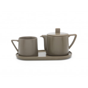 Tea-for-one set Lund warm grey