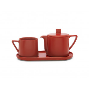 Tea-for-one set Lund, red