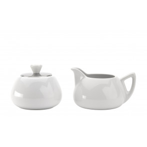 Manto sugarbowl and creamerset, spring white