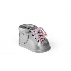 Money box Shoe 2 colour laces matt lacq.