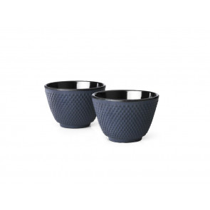 Cups Cast Iron S/2 Xilin blue
