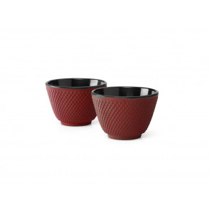 Tea cups Xilin, red