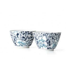 Teebecher Yantai Porzellan blauweiß 2er-Set