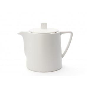 Teekanne Lund 1L Weiß Steingut matt