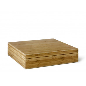 Tea Box 12 compartments closed bamboo