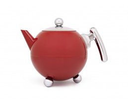 Teapot Bella Ronde 1,2L, Red Chrome, chromium fittings