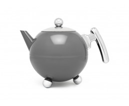 Teapot Duet® Bella Ronde 1,2L, Cool Grey Chrome, chromium fittings