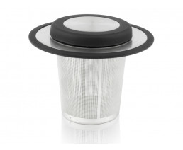 Tea filter with coaster