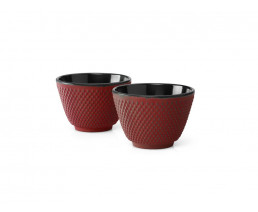 Cups Xilin cast iron red s/2
