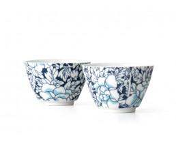 Yantai tea mugs, dark blue, set of 2