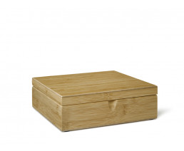Tea Box 6 compartments closed bamboo